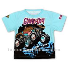 Sublimation printing sports t shirts for kids