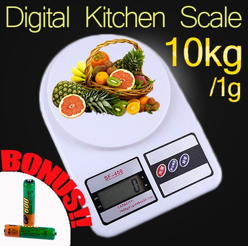 10kg food kitchen food list scale industries