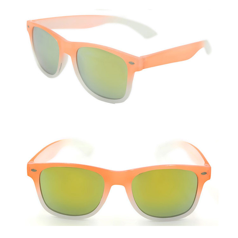Orange nerd geek sunglasses UV400