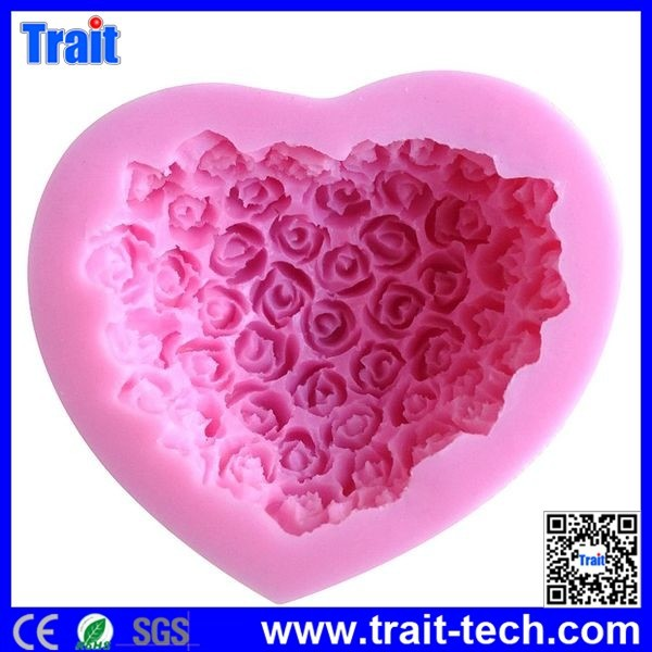 6*4cm Rose Shaped Silicone Cake Mold Bakeware Decorating Gum Paste Fondant Clay Soap Mold