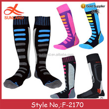 F-2170 new winter professional men and women cotton ski socks heated for wholesale