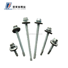 Factory direct sale Zinc Plated Hex head self drilling screw with EPDM washer