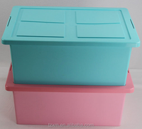 large size pp plastic heavy duty clothes storage box 47L