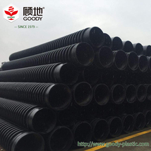 Low cost HDPE material underground drain pipe , corrugated drain pipe