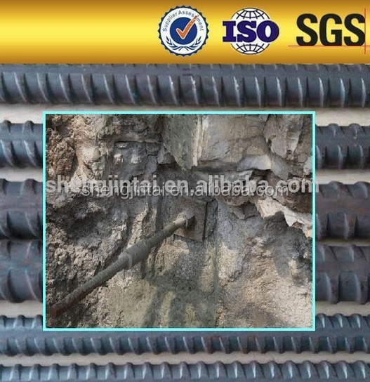 Pre-Stressing / Post Tensioning Systems screw thread bar for tunnel project