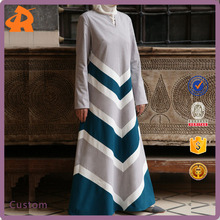 2017 New Design Wholesale Duabai Latest Abaya Designs Stripe Cotton Dress