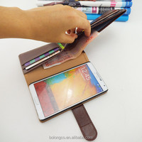 wholesale for wallet card leather case for Samsung galaxy note 4 ,Accept Paypal