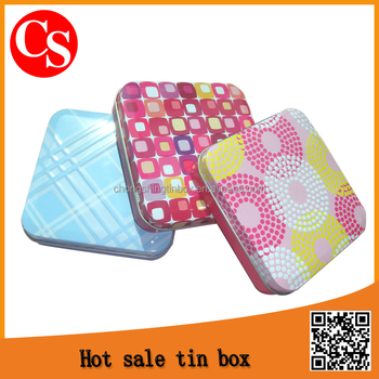 Square game tin box