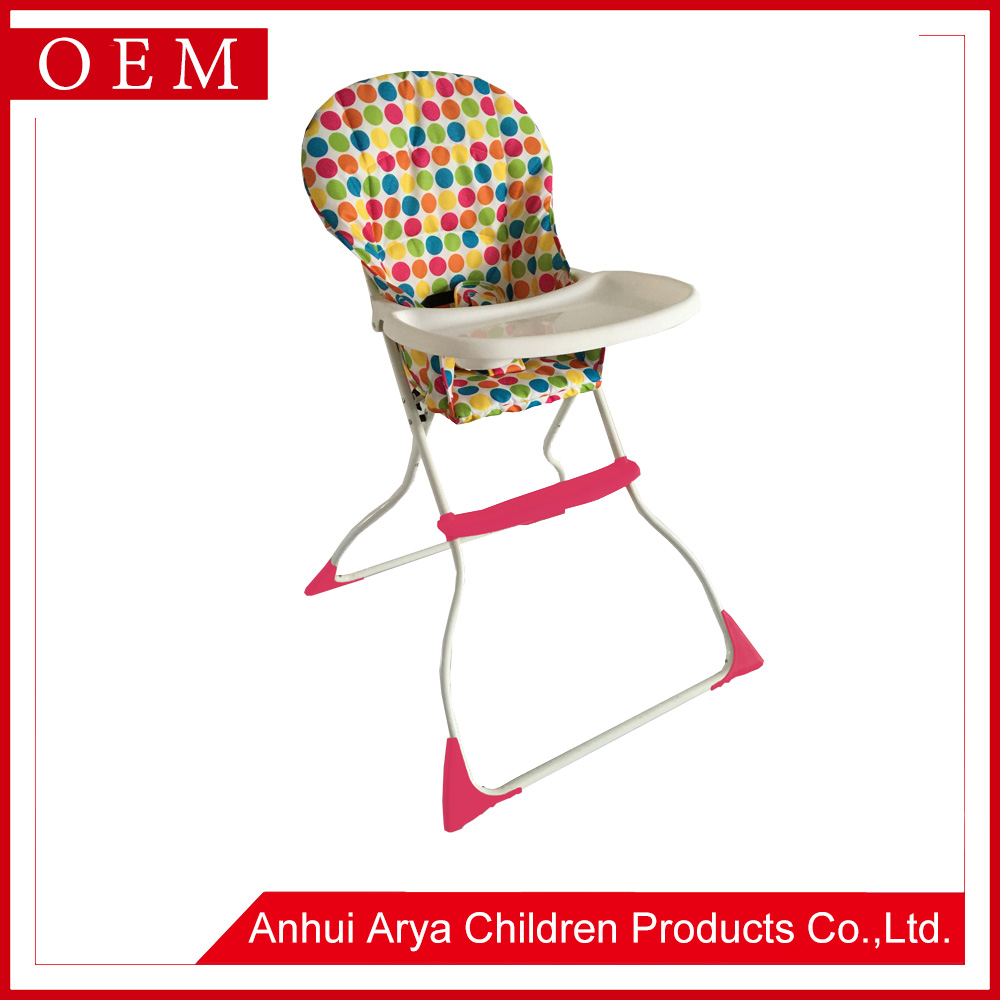 2017 Adjust Simple design multipurpose Healthy Care Folding kids sitting feeding babies high chairs furniture with Rocker
