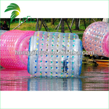 Giant Custom Colorful Inflatable Rolling Zorb Balloon , Inflatable Clear Water Walking Rollering Zorb Ball For Sale