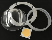 High power Plano convex led glass lens for Cree cob led street light