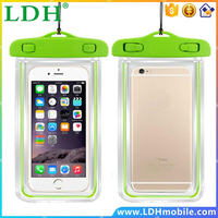 Fluorescent water proof phone bag mobile phones Luminous water proof bags for iphone6 6plus 4 4s 5 5s for samsung s3 s4 s5 H New