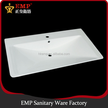 Chaozhou ceramic top counter middle edge cabinet wash basin on promotion
