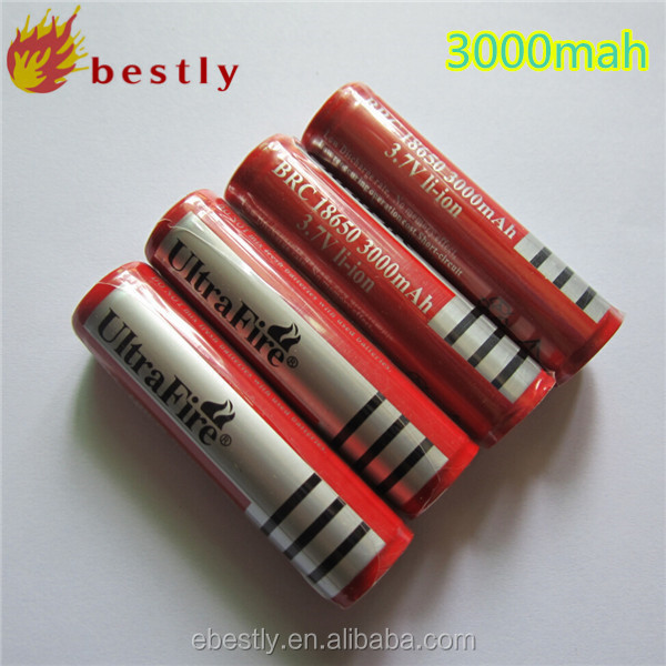 USB cable,Newest High qulaity UltraFire BRC 18650 battery 3.7V 3000mAh Rechargeable Li-ion Battery with PCB