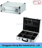 Sliver aluminium alloy box professional tool cases flight case
