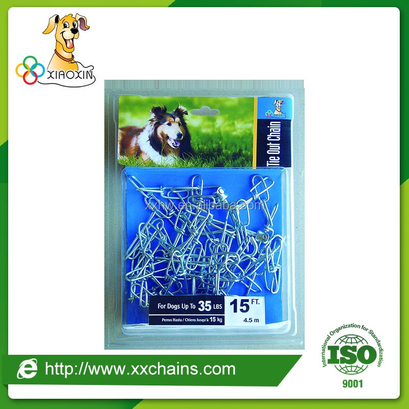 Stainless steel twist chain, dog tie-out twist chain