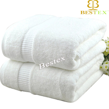 Wholesale Dobby Luxury 5 Star White Terry 100% Cotton Hotel Bath Towels