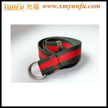 Cotton webbing belt rolls with Striped