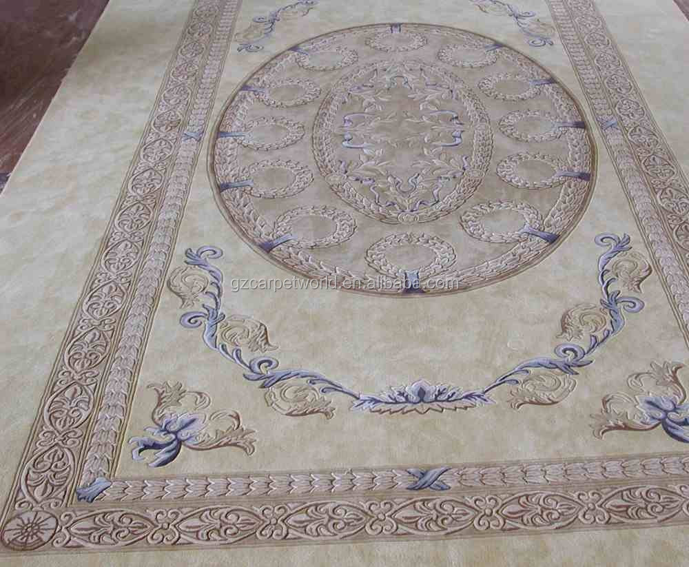 Handmade French Chinese Wool Aubusson Carpet Rug