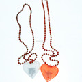 "33"" 7MM Heart LED Light Up Necklace"