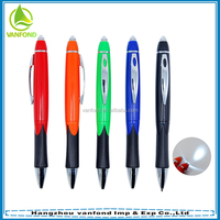 Multi function twist action promotional led light pen writing in the dark