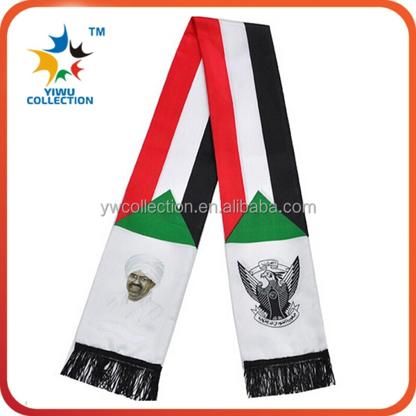 2014 trend 1000pcs MOQ OEM acceptable woven fan scarf