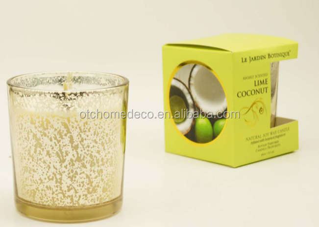 LBC004 lime coconut 150g highly scented natural customized soy wax candles