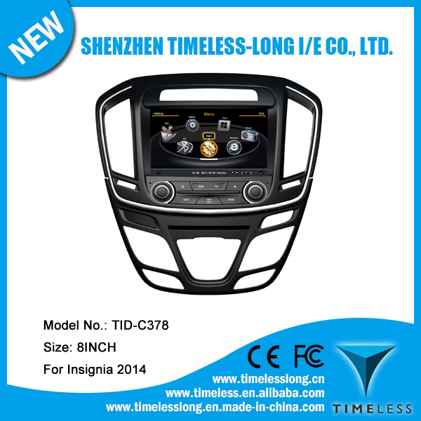 Car Radio for OPEL Insignia 2014 with built-in GPS A8 chipset RDS BT 3G/Wifi DSP Radio 20 dics momery(TID-C378)