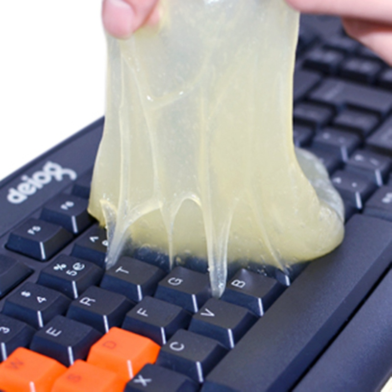 Hot ! Magic Innovative Super Soft Sticky Dust Cleaning Gel Gum Computer Keyboard Cleaning Glue High Tech Cleaning Compound Gel