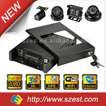 NEW 8 channel H.264 vehicle DVR with anti-shock Remote Live view & GPS tracking GPS WIFI 3G 4G Mobile CCTV System