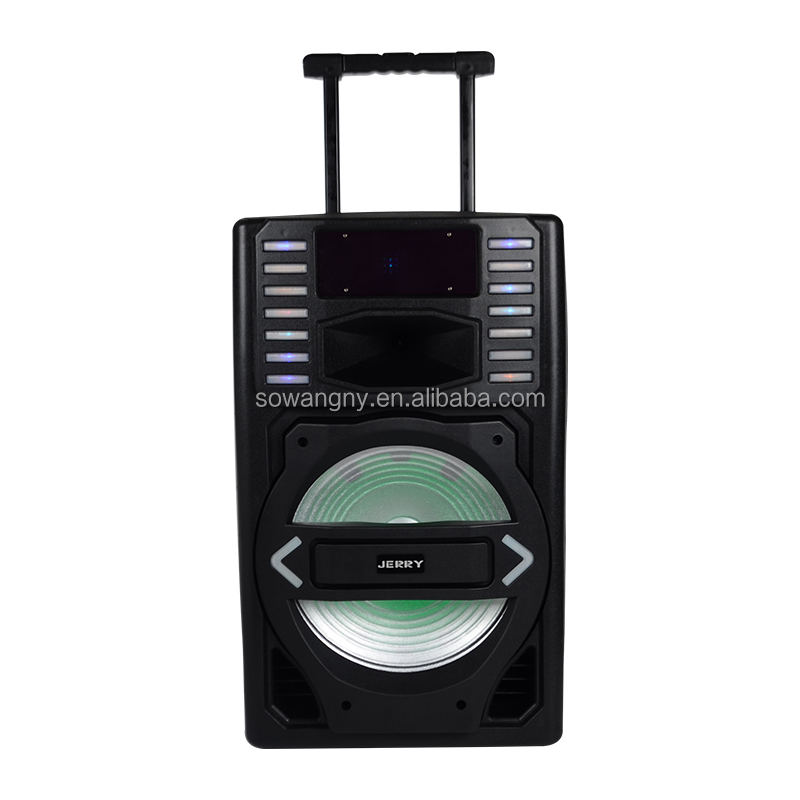 Jerry Powered 15 inch 12V/4.5A Battery DJ Music Party Portable Professional Remote Trolley speaker - idealSpeaker.net