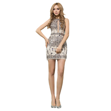 Fashionable Sexy Cocktail Dress 2018 Halter Real Pictures Mini Short Bling Slivery Crystals For Club