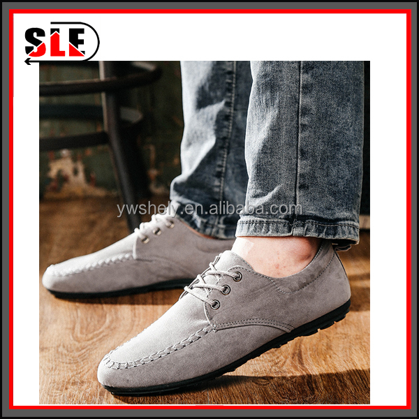 fashion men relax plat heel low cut PU soft casual shoes