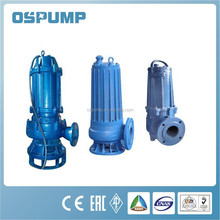 Centrifugal electric non-clogging submersible sewage pump