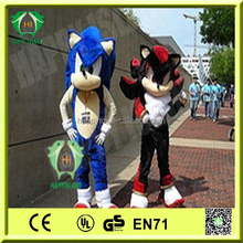 Funny toy!!! HI professional cosplay Cool Sonic mascot costume,adult movie cartoon costume