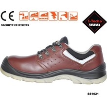 Cow leather safety shoes with casual style