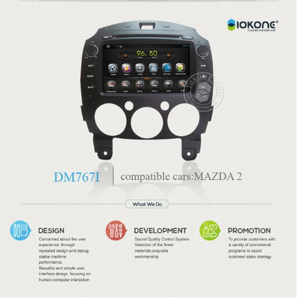 wholesale factory in dash car multimedia 1 din Kit player for mazda 2 3 5 6 With Body Bluetooth GPS navigation system