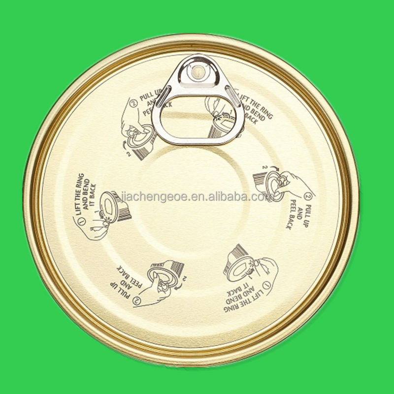 153mm tinplate easy open end tin can lid