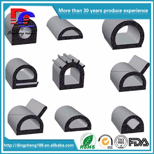 Extruded Foam Rubber Gaskets For Automotive