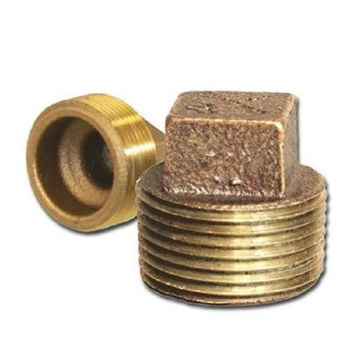 Brass Fittings Cored Square Head Plug Fittings 1.25 in
