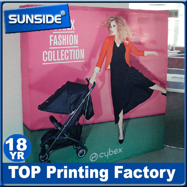 Aluminum frame High Quality Pop Up Stand advertising portable trade show tension fabric backdrop exibition display