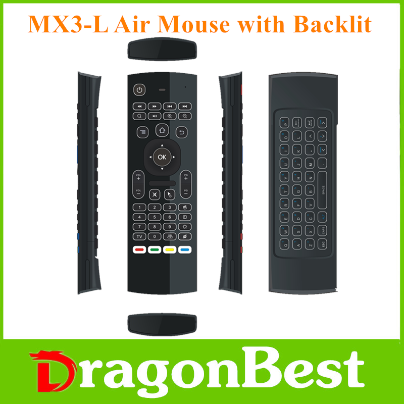 2017 NEW Brand MX3-L backlit air mouse 2.4g mini wireless keyboard with touchpad Sold on Alibaba Somatosensory remote control