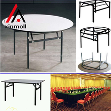 outdoor white folding cheap plastic round tables for sale