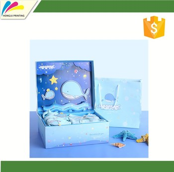 luxury recycle custom packaging baby gift box set