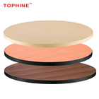 TOPHINE Furniture Heat Resistant Waterproof Laminate Wood Restaurant Table Tops