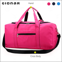 Factory Direct Foldable Waterproof Nylon Multi-function 2 Way Hand Crossbody Travel Gym Bag