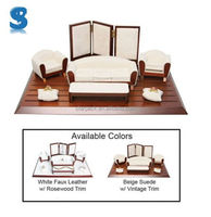 Luxury Custom Made Jewelry Display Stand Set Mini Furniture Faux Leather Jewellery Displays Sets SHOW476