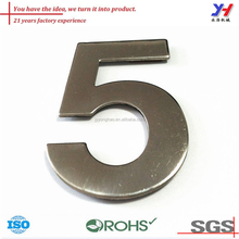OEM ODM good metal hotel room number/stainless steel hotel room number