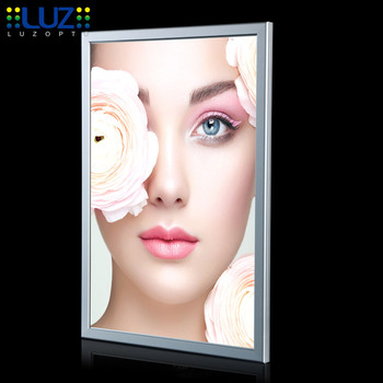 high quality animation super slim led light box sign display with aluminum frame