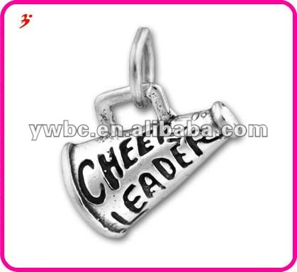 Wholesale Lovely Engraved Megaphone with Cheerleader Charm(H102100)